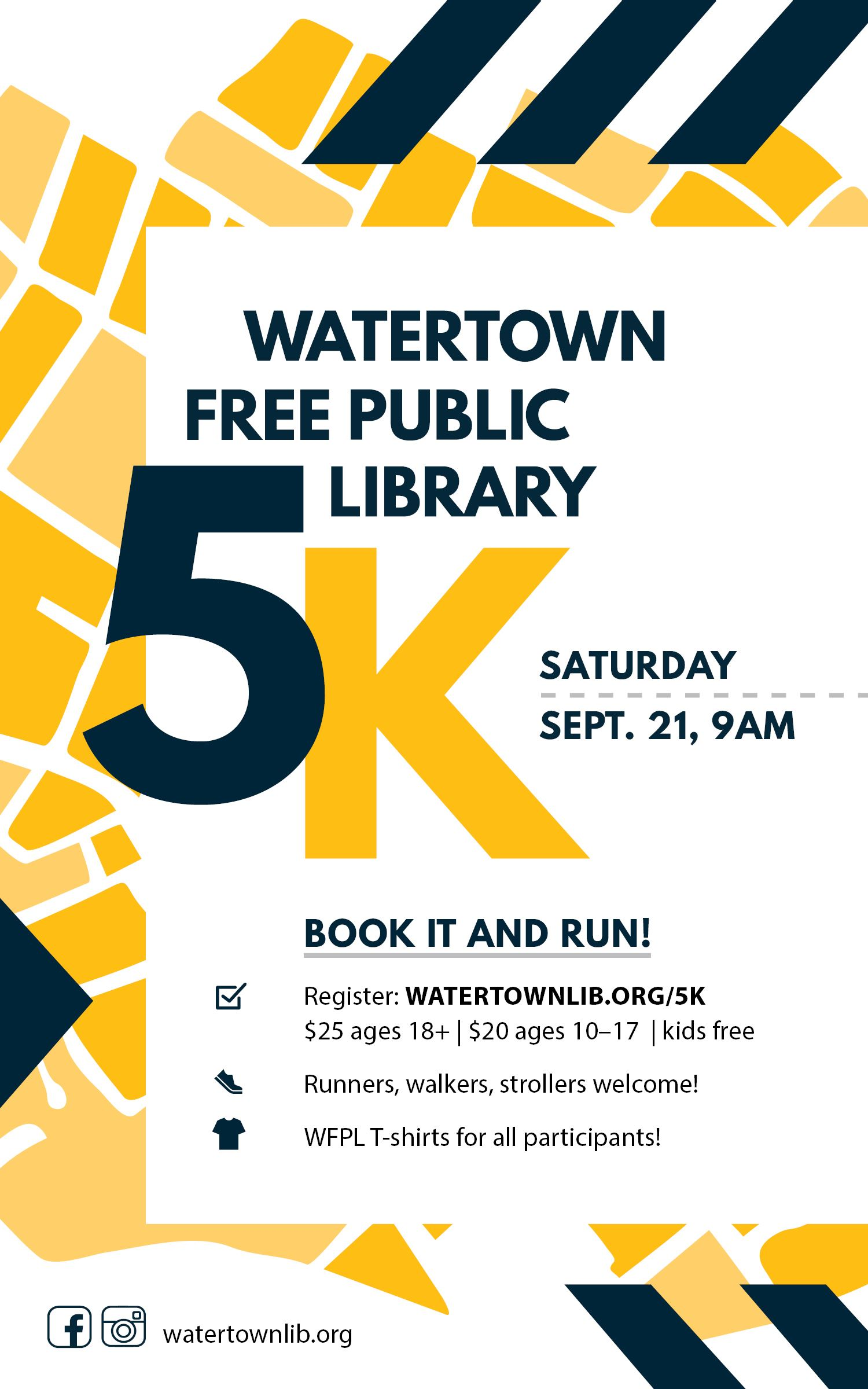 WFPL is hosting the 6th annual Book It and Run 5K on September 21, 2019.