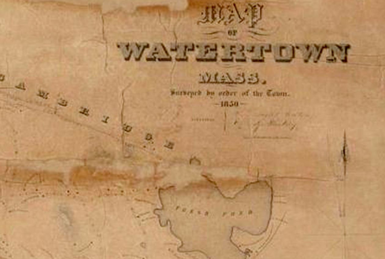 Image of a faded antique map.