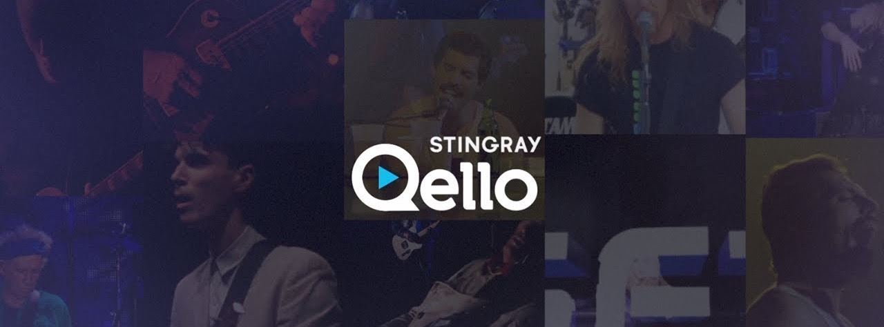 Image of Qello logo with movie stills in background.