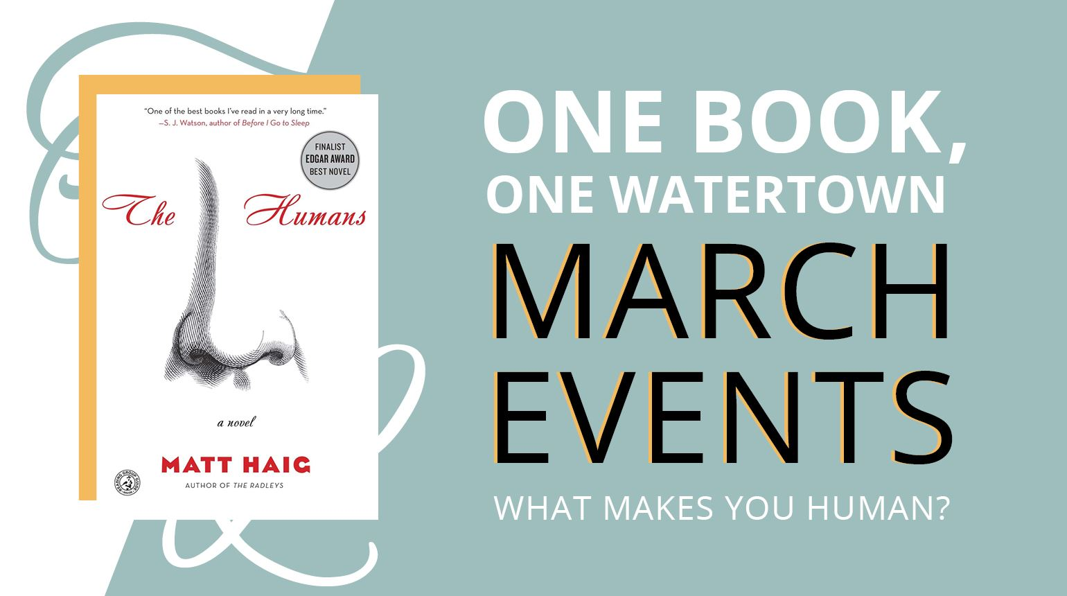 """Banner with the text, """"One Book, One Watertown 2021 Selection: Borrow it from WFPL!"""""""